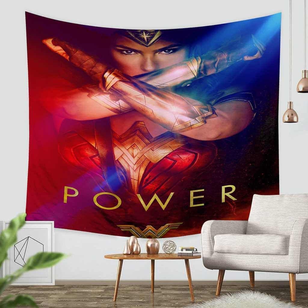 3d Custom Wonder Woman Tapestry Throw Wall Hanging Bedspread Tapestry Throw Tapestry Wall Hanging