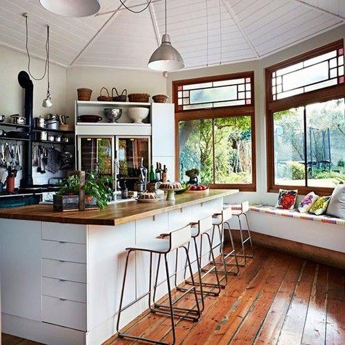 Kitchen Island with lots of storage Great Windows Interior