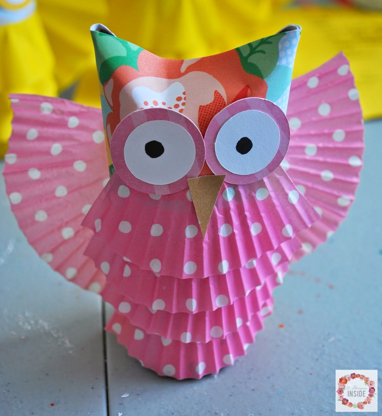 A Glimpse Inside: Toilet Paper Tube Owls