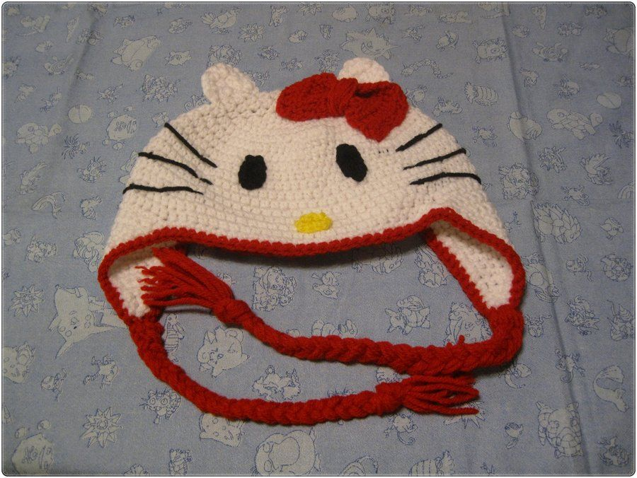 a7a62aefd Hello Kitty crochet hat for my neice by achgfd.deviantart.com on @deviantART