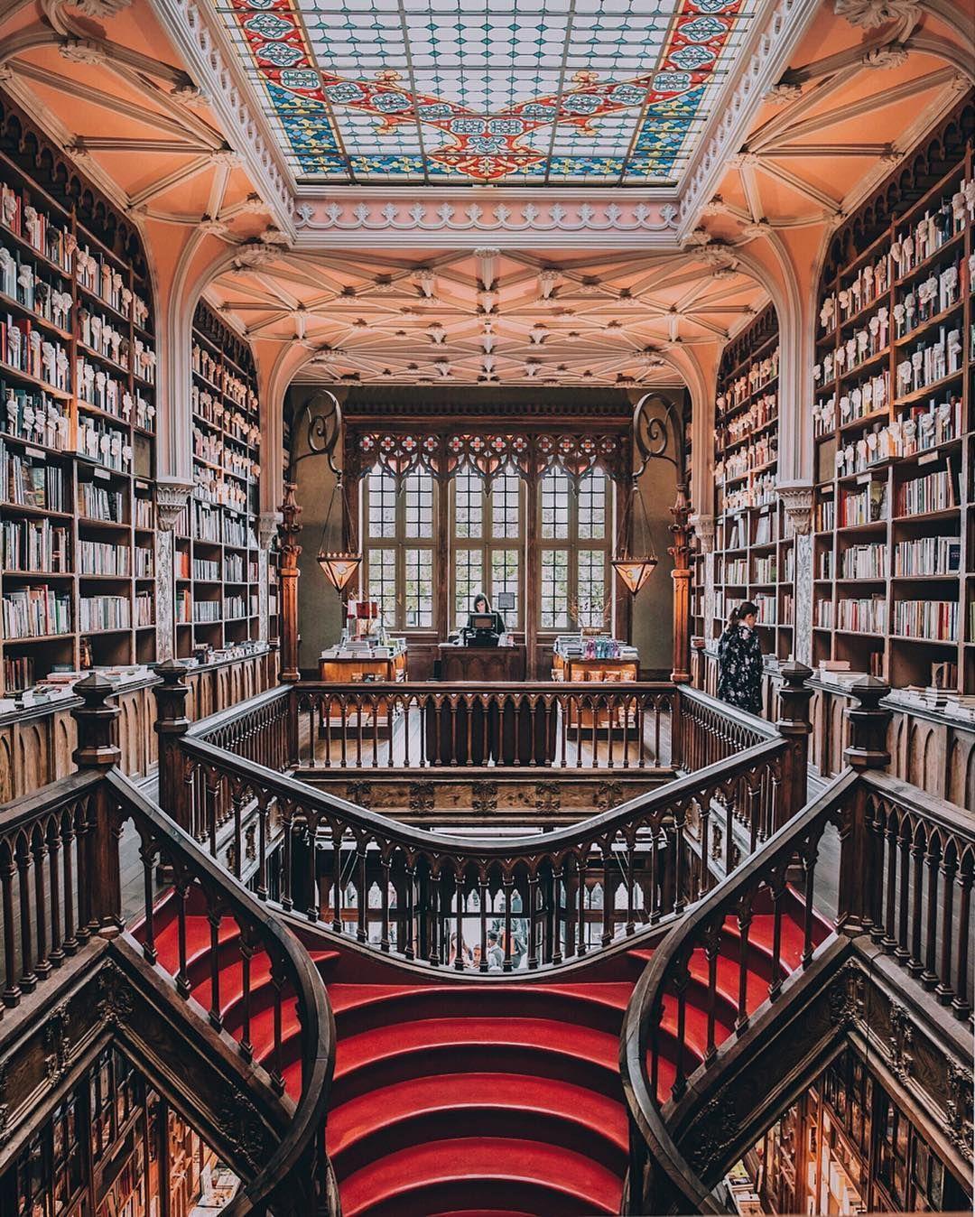 Livraria Lelo A Gorgeous Bookstore In Porto Portugal Bookstore Beautiful Library Portugal