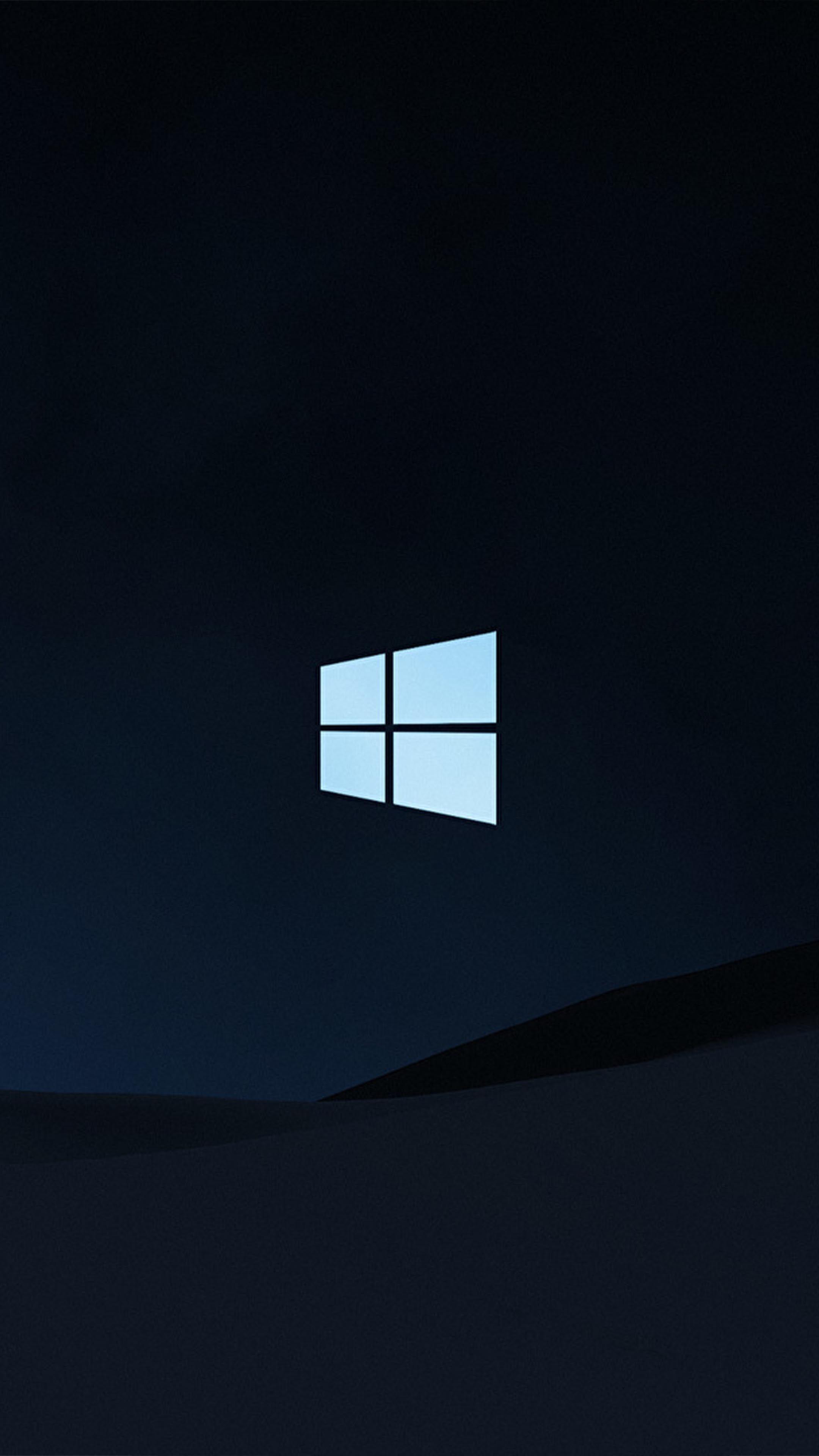 Windows 10 Logo Dark Background 4k Ultra Hd Mobile Wallpaper Windows 10 Logo Windows 10 Background Dark Backgrounds