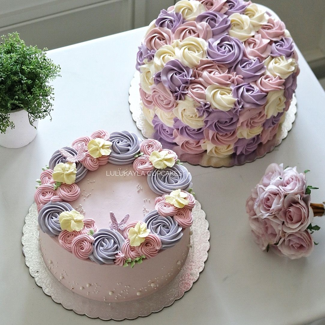 Pin By Lulu Kayla On Buttercream Flower Cake Buttercream