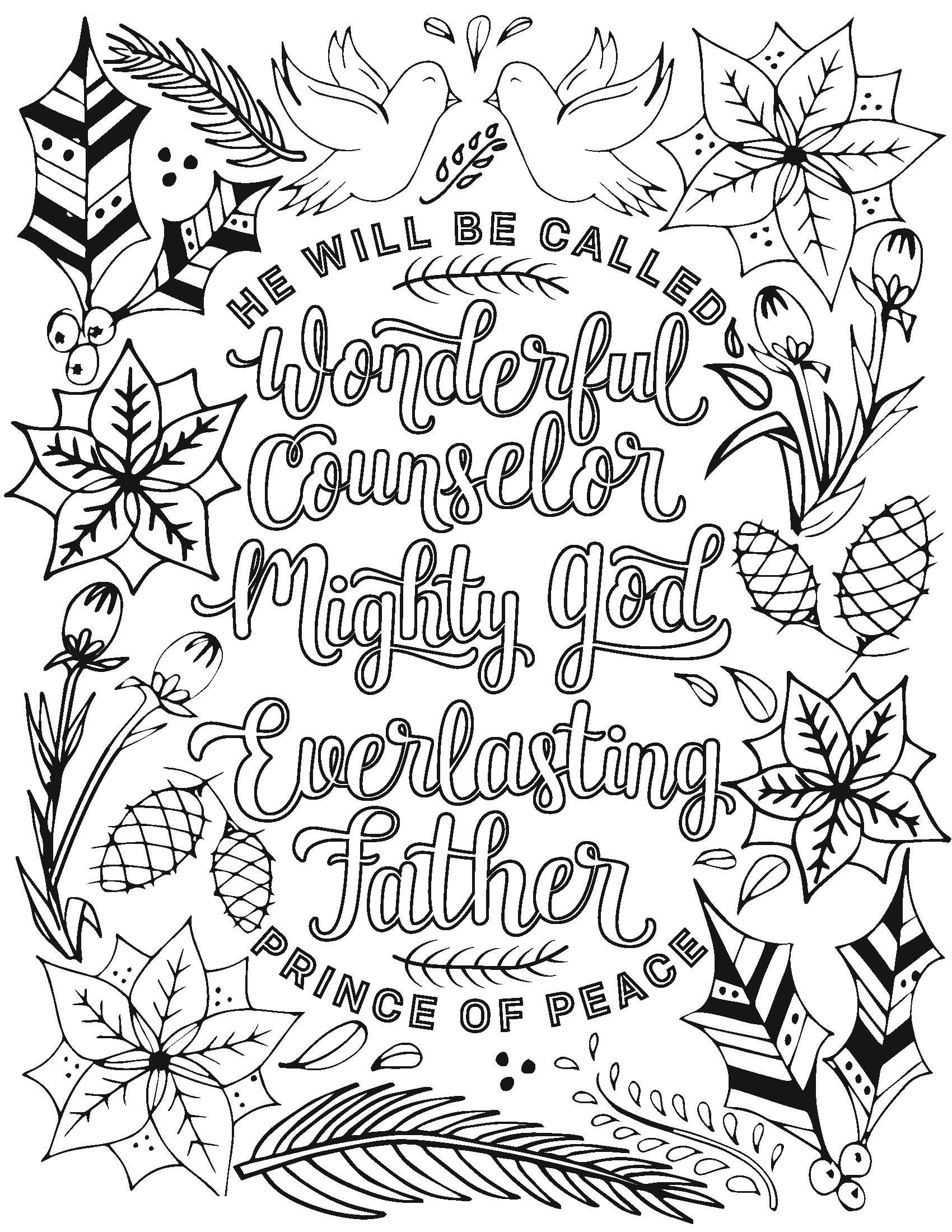 Merry Christmas MOPS coloring page Bible verse coloring
