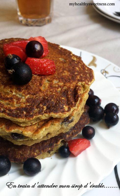 pancake vegetalien aux flocons d'avoin