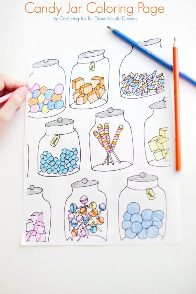 Candy Jar Coloring Page Candy Drawing Coloring Pages Coloring