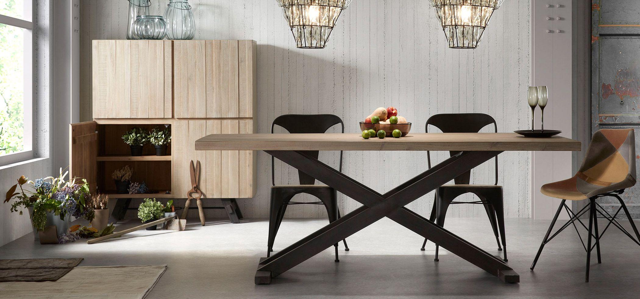 Mesa de comedor madera Tiva Material: Madera de Acacia Descripcion ...