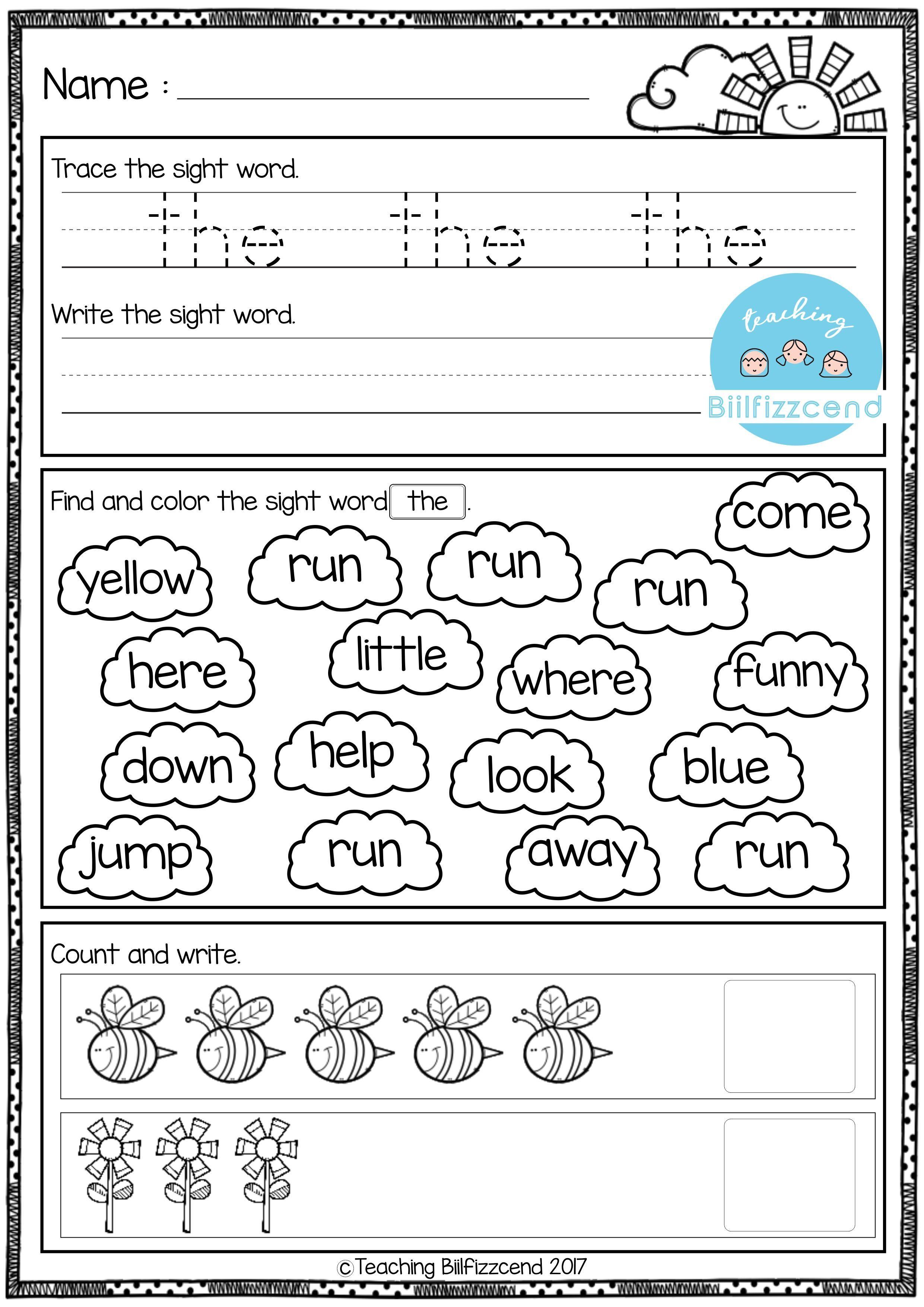 Free Kindergarten Morning Work Lli Board Actividades