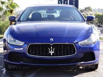 Blue Maserati Ghibli