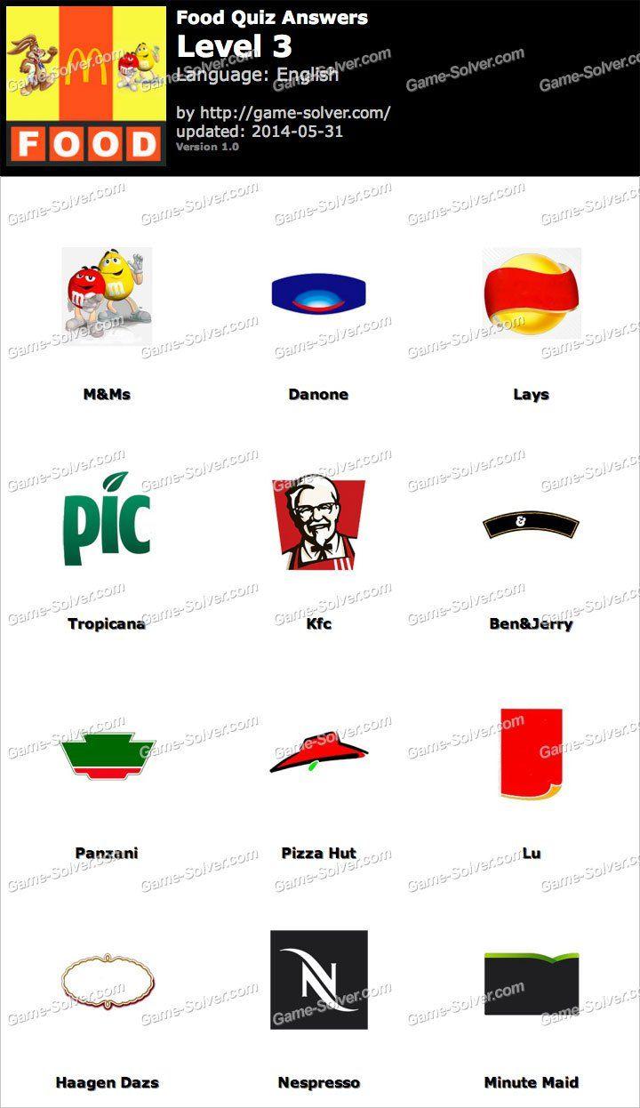 Foods Quiz Level 3 Food Quiz Quiz Levels
