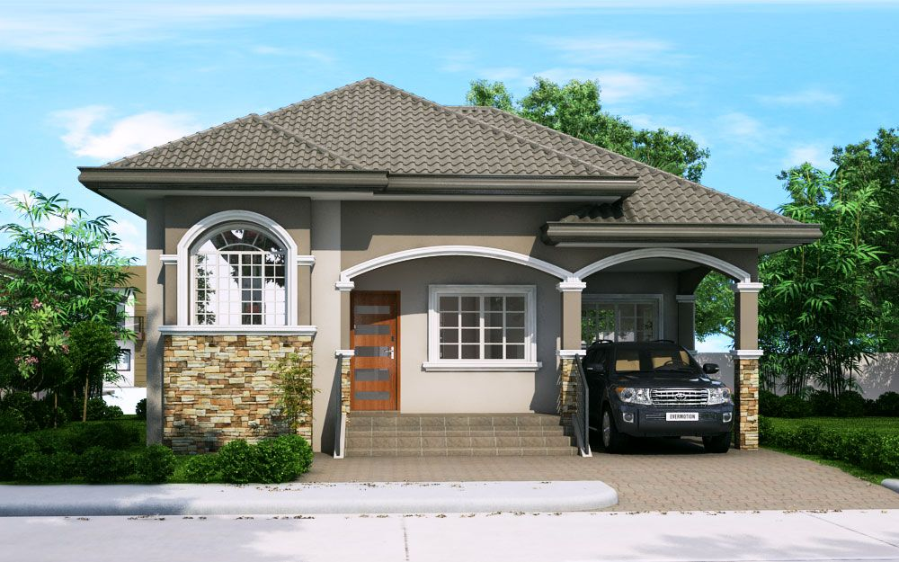 Katrina is a 3 bedroom bungalow house plan this house for Elevated bungalow house plans
