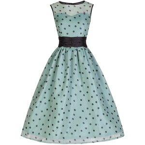 Lindy Bop 'Cindy' Vintage 50's Classy Yet Sassy Polka Dot Party Dress