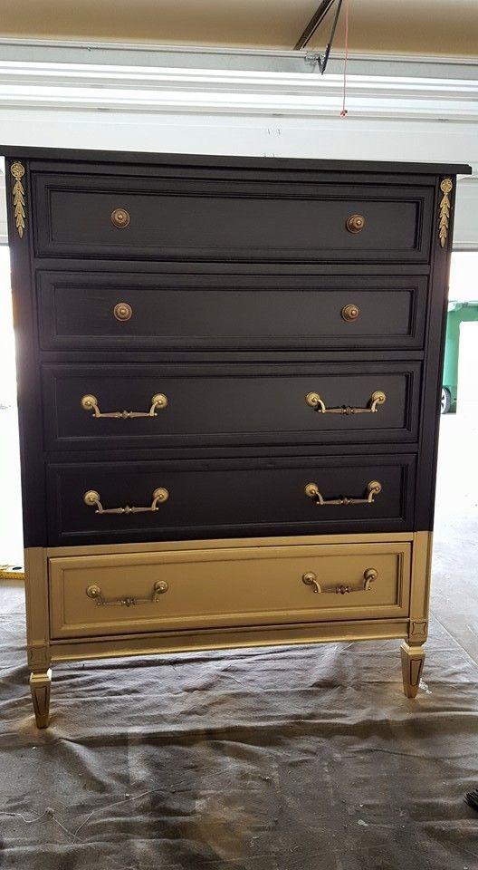 Gold Dipped Dresser Makeover Diy