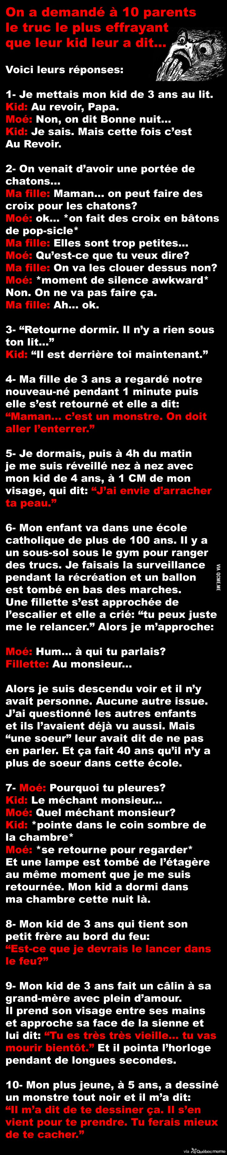 Paroles De Kids Effrayantes Québec Meme Autres Trucs