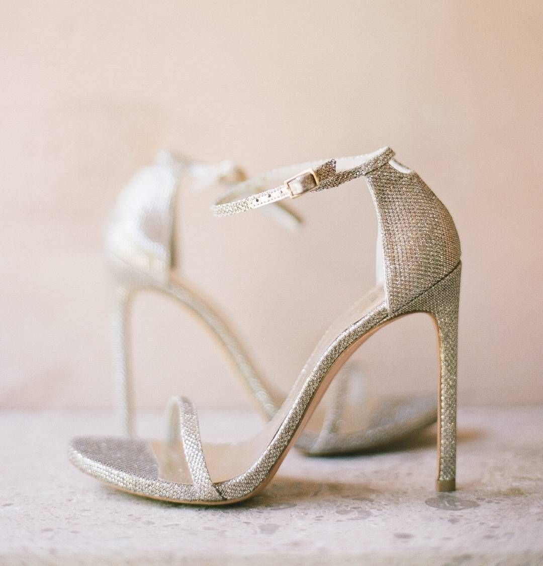 Perfect strappy wedding shoe.