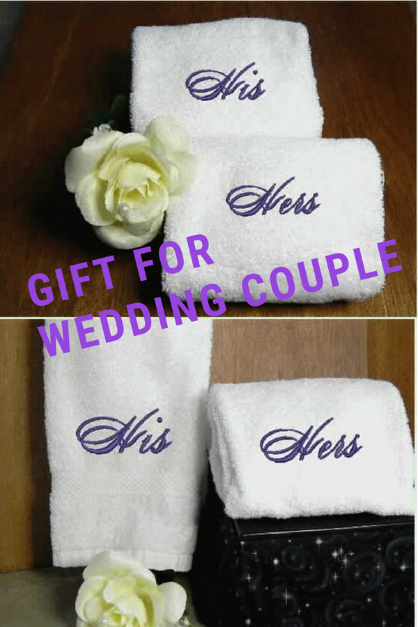 Gift For Bride And Groom Hand Towel Set Bath Hand Towel
