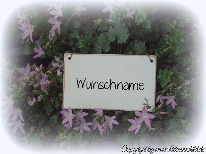 Tür- & Namensschilder - Mini- Schild > WUNSCHNAME < weiss - ein ...