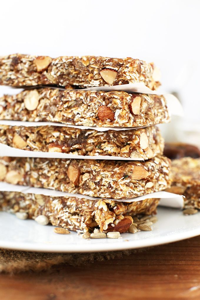 Super Seedy Granola Bars Minimalist Baker Recipes Granola Recipe Bars Vegan Snacks Gluten Free Granola Bars