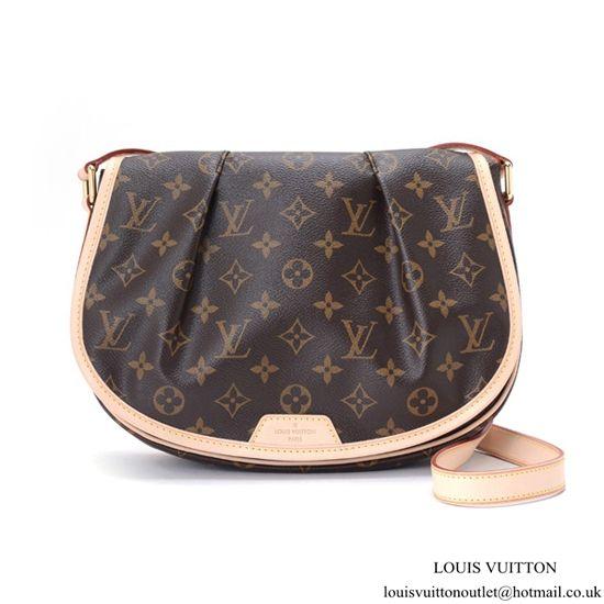 291aaba468d Louis Vuitton M40474 Menilmontant PM Crossbody Bag Monogram Canvas ...