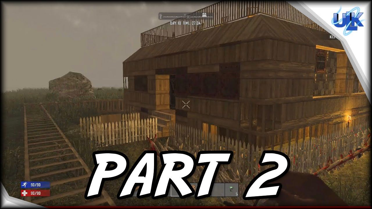 7 Days To Die Ps4 Gameplay Part 2 We Build A House 7 Days To Die