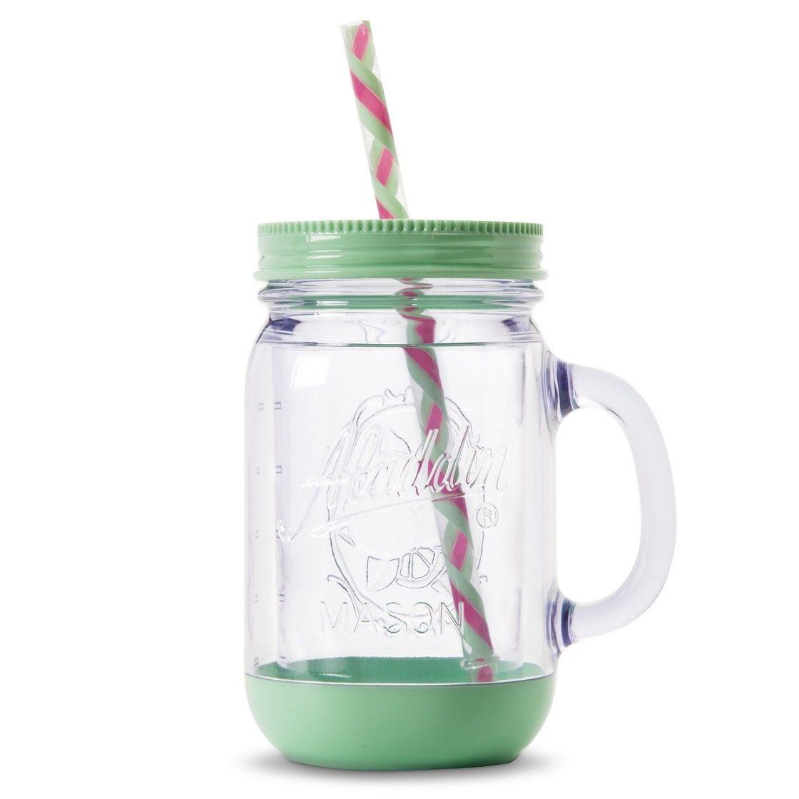 Aladdin Plastic Mason Jar Travel Mug (20 oz)