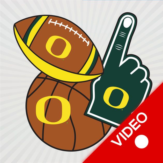 NEW iOS APP Oregon Ducks Animated Selfie Stickers
