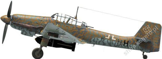 Junkers Ju 87D-8 (D-5N) E8 + HH pertenecía a I./NSG 9, el norte de Italia, el verano de 1944. [Visualización 3D Marek Ryś]