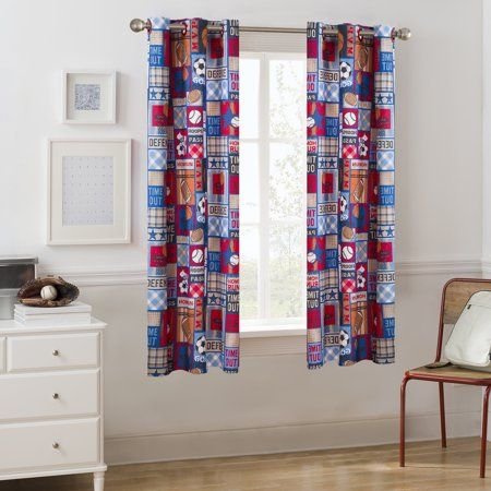 Boys Bedroom Curtains Mainstays Grommet Room Darkening Sports