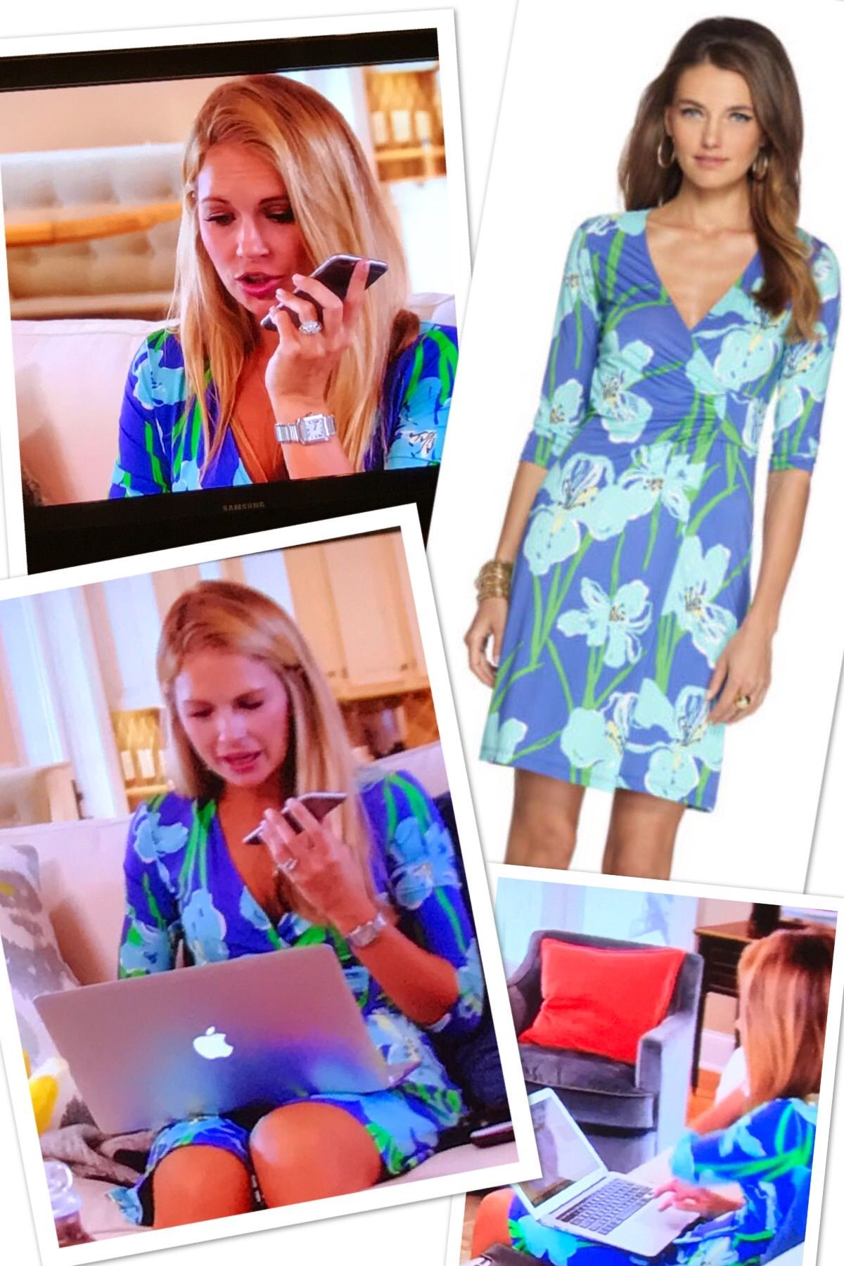 3710359fcfce Cameran Eubanks  Purple Floral Wrap Dress Season 4 Episode 4 Southern Charm  Fashion http
