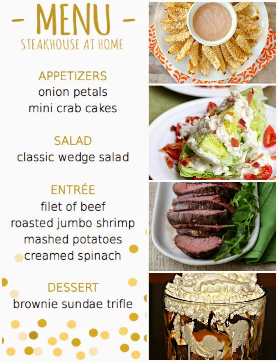 Prepping parties dinner party menus recipes for Ideas for dinner menu