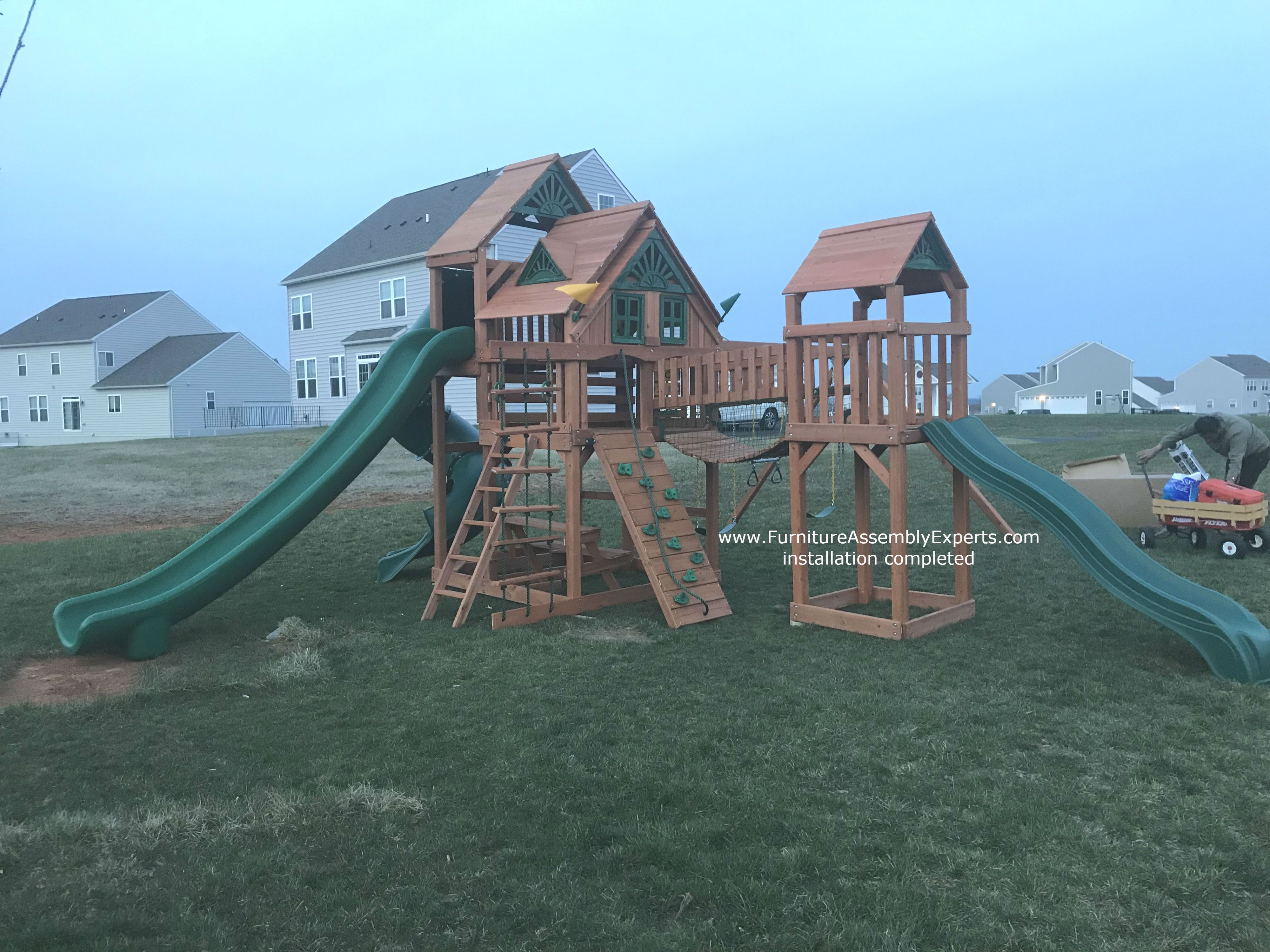 Gorilla Playsets Treasure Trove Swing Set w/ Timber Shield ...