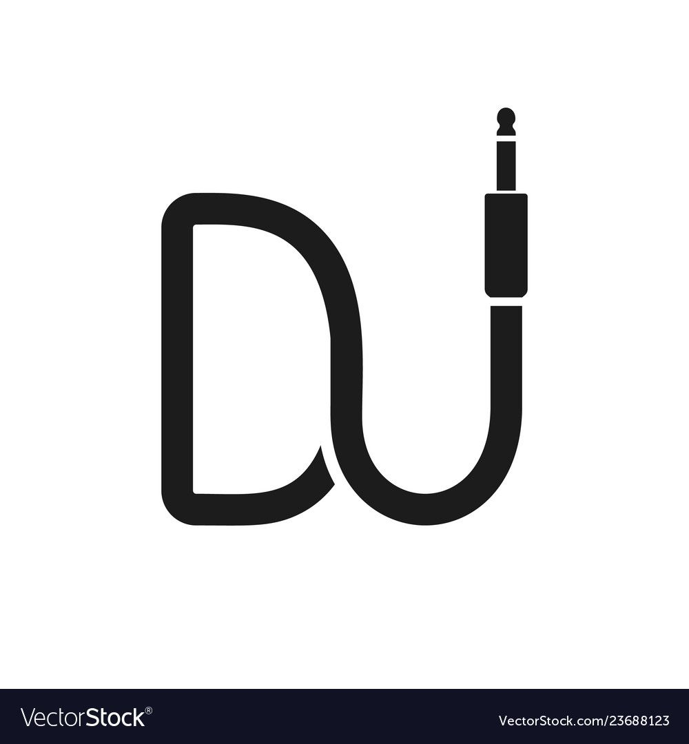 Isolated Dj Logo Wire Cable Audio Jack Music Logotype Musical Icon On White Background Download A Free Preview Or H Dj Logo Music Logo Design Logotype Music