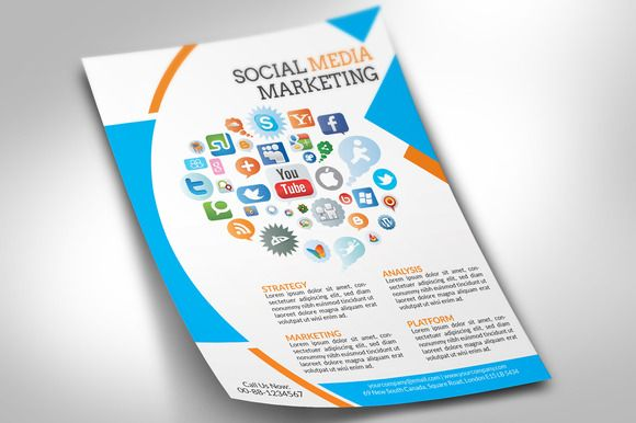 Social Media Marketing Flyer  Marketing Flyers
