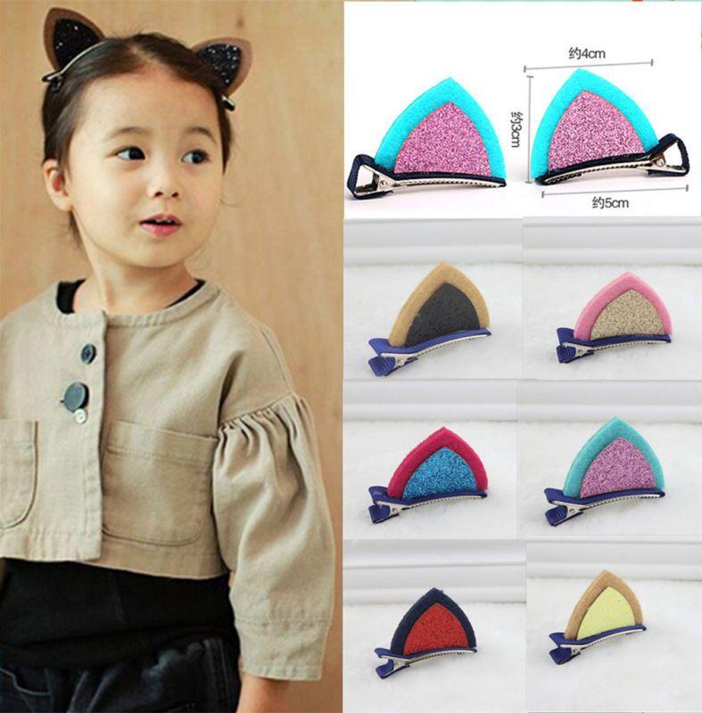 HOT 2PCS Cat Ears Hair Clips Fancy Dress Costume Kawaii Headband Bobby Pin in Clothes, Shoes & Accessories, Women's Accessories, Hair Accessories | eBay