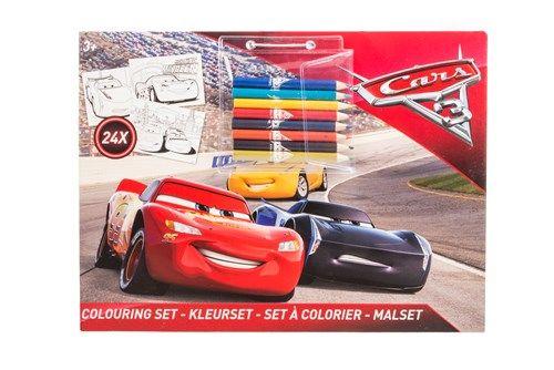 Kleurplaten Van Cars 3.Disney Cars 3 Kleurset Met Acht Kleurpotloden Tekenen En