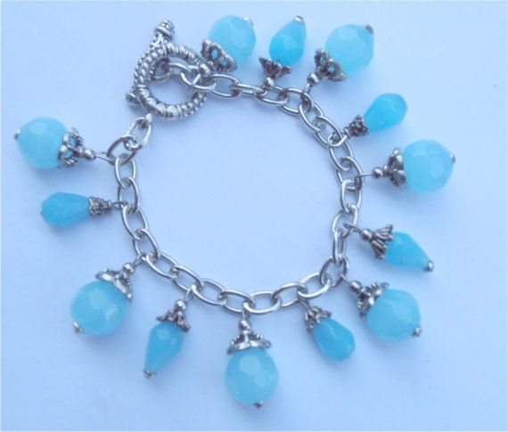 Persian Blue Handmade Crystal  Bracelet with Swarovski components by VillaCollezione on etsy