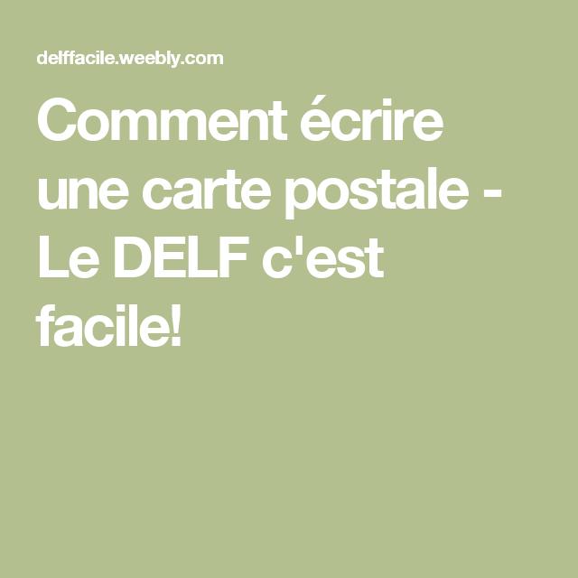 Comment écrire une carte postale - Le DELF c'est facile!