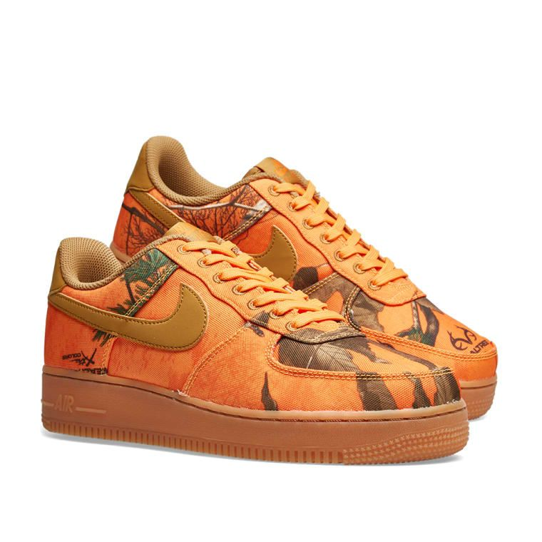 Nike Air Force 1  07 LV8 3  Realtree Camo  Orange Glaze 37f3bde8c