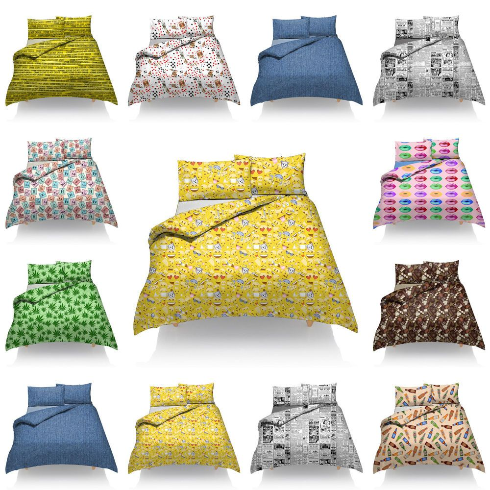 New Funky Duvet Cover Sets With Pillow Cases Bedding Sets Duvet