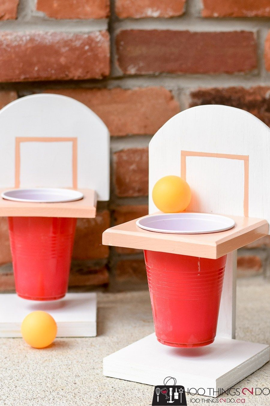 Championship Beer Pong (with or without beer) | 100 Things 2 Do #rusticwoodprojects