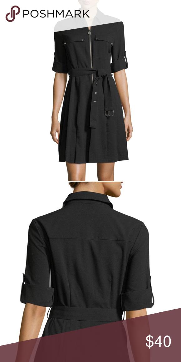 10fcd2c89b4 Michael Kors Crepe Shirtdress MICHAEL Michael Kors shirtdress in  stretch-crepe. Spread collar
