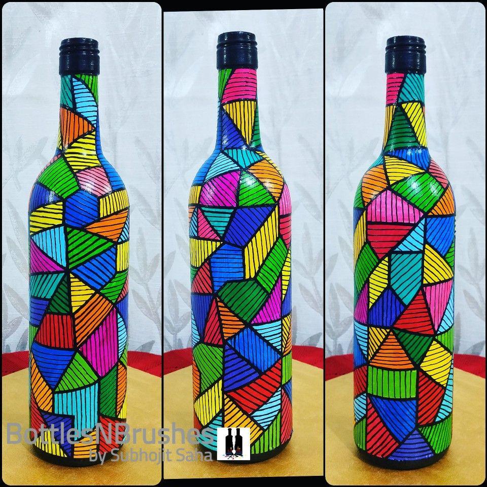 Bottleart Simple Design For Bottle Diy Bottle Art Bottles Decoration Cards Handmade 11 + diy ideas to design a bottle cap mosaic. bottleart simple design for bottle diy