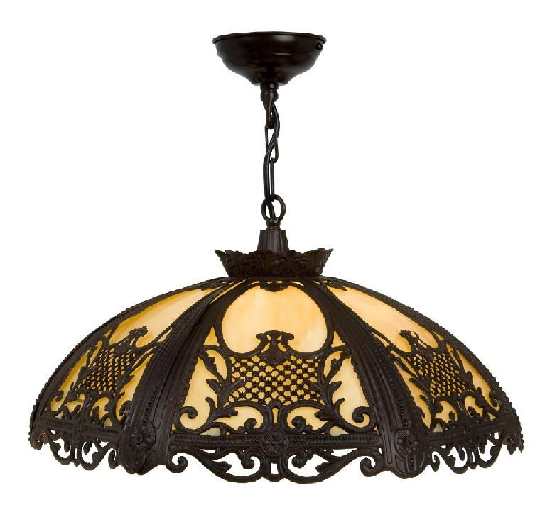 Kansa Lightings Rococo Range Colonial New Orleans Style Interior Lights With An Intricate Antique Finish Metalwork Shade And Amber White Gl