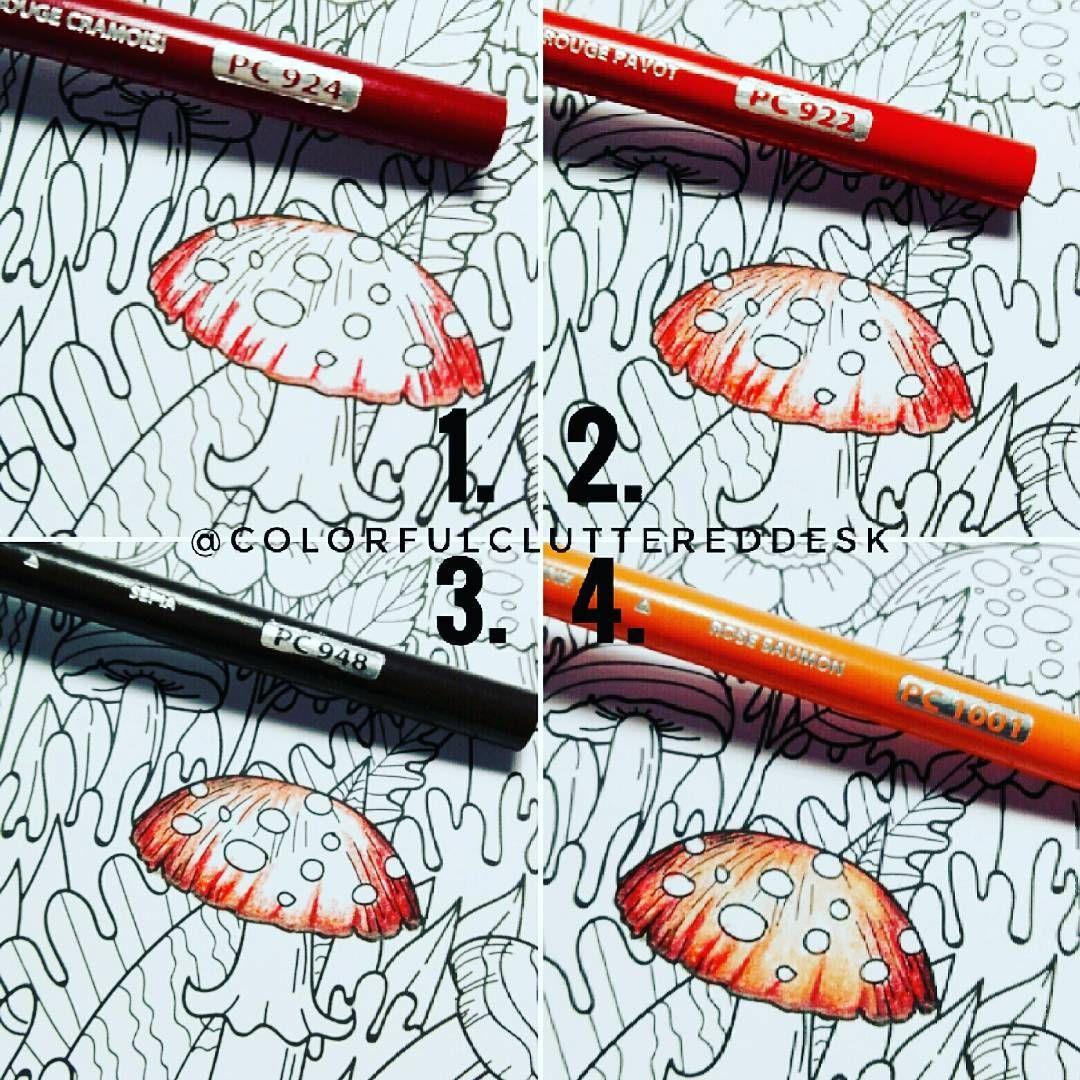 Fliegenpilz Hut Teil 1 und 2 #Prismacolor #coloration #coloringbook #colorcombo