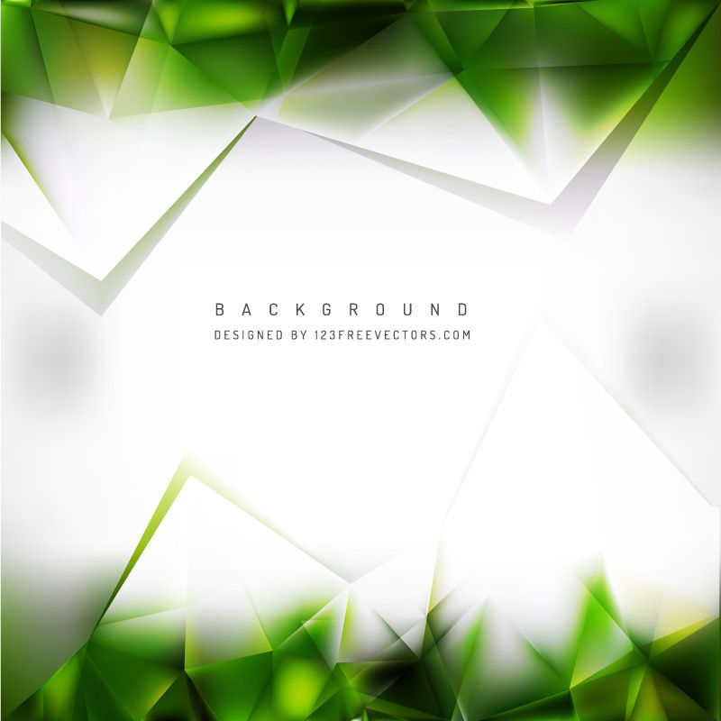 White Green Geometric Triangle Background Template