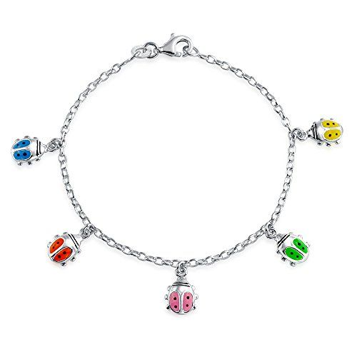 Bling Jewelry Silver Enamel Lucky Ladybug Childrens Charm Bracelet 65in Read More At The