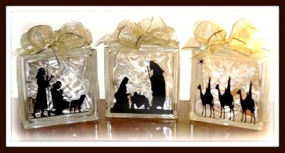 Images About Glass On Pinterest - Nativity vinyl decal for glass block light