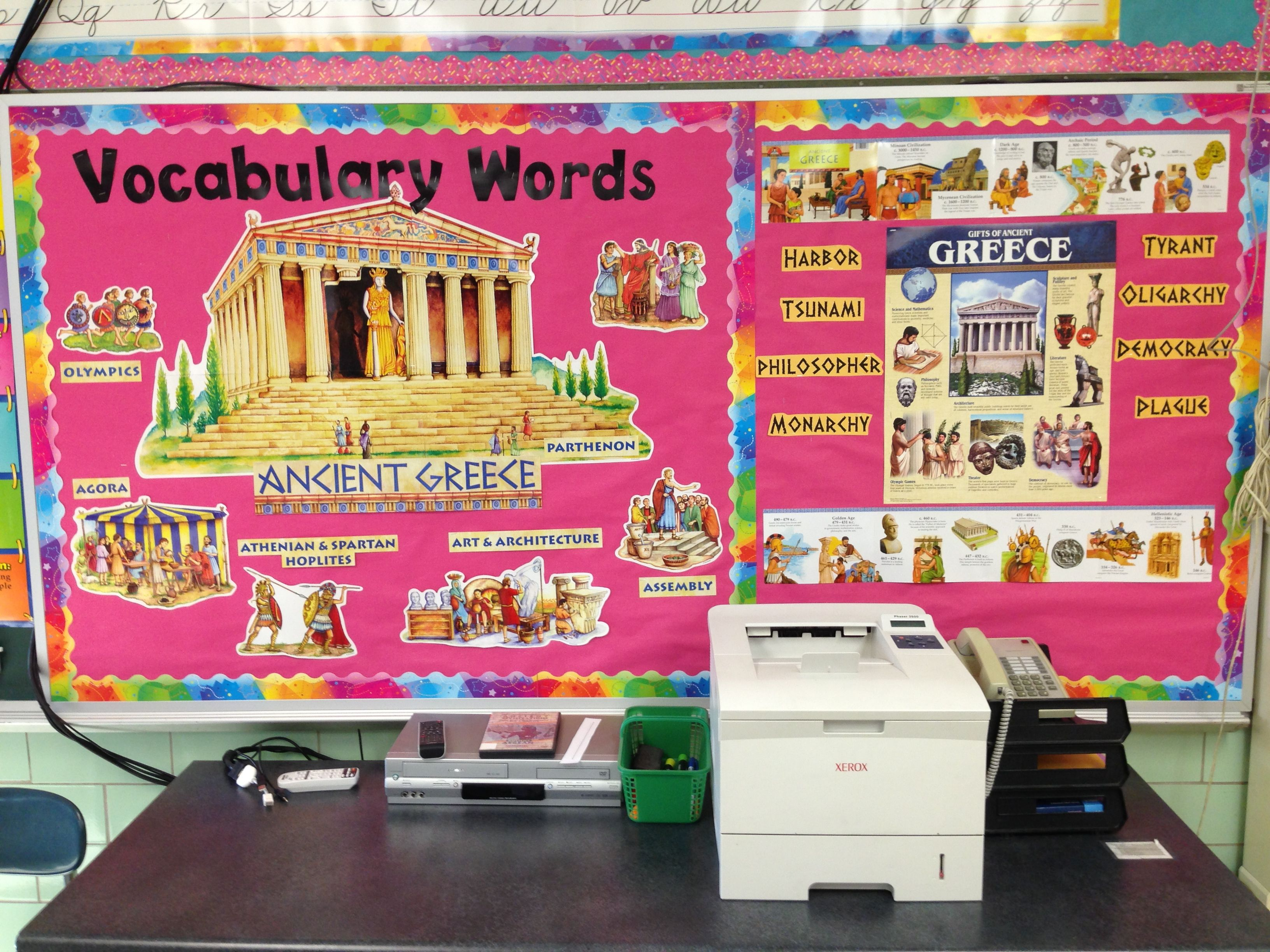 Ancient Greece Vocabulary Bulletin Board