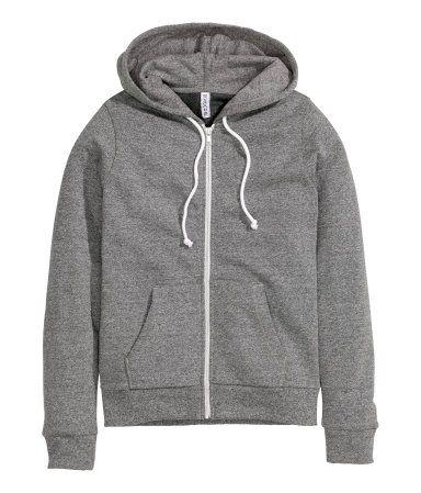 2903e20dbef6 Hooded Sweatshirt Jacket   Dark gray   Ladies   H&M US   dream ...