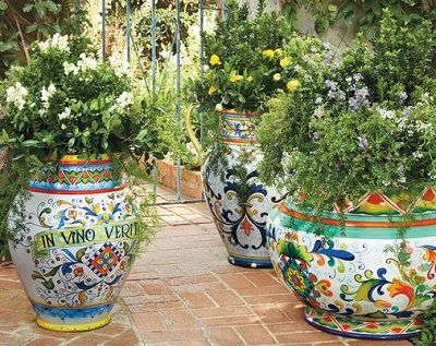 Pots Ceramic Italian Garden Outdoor Living